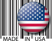 Made in USA barcode. Vector illustration — Stock Vector