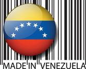 Made in Venezuela barcode. Vector illustration — Stock Vector