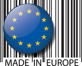 Made in Europe barcode. Vector illustration — Stock Vector