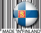 Made in Finland barcode. Vector illustration — Stock Vector