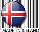 Made in Iceland barcode. Vector illustration — Stock Vector