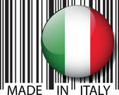 Made in Italy barcode. Vector illustration — Stock Vector