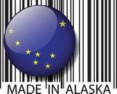 Made in Alaska barcode. Vector illustration — Stock Vector
