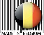 Made in Belgium barcode. Vector illustration — Stock Vector