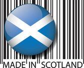Made in Scotland barcode. Vector illustration — Stock Vector