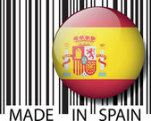 Made in Spain barcode. Vector illustration — Stock Vector