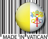 Made in Vatican barcode. Vector illustration — Stock Vector