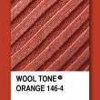WOOL TONE ORANGE. Color sample design — Stock Photo