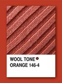 WOOL TONE ORANGE. Color sample design — Stock Photo