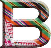 Letter B made with hand made woolen fabric — Stock Photo