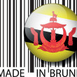 Made in Brunei barcode. Vector illustration - Stock Vector