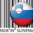 Stock Vector: Made in Slovenibarcode. Vector illustration