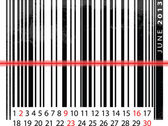JUNE 2013 Calendar, Barcode Design. vector illustration — Stock Vector