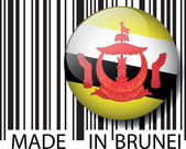Made in Brunei barcode. Vector illustration — Stock Vector