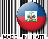 Made in Haiti barcode. Vector illustration — Stock Vector
