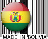 Made in Bolivia barcode. Vector illustration — Stock Vector