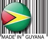 Made in Guyana barcode. Vector illustration — Stock Vector