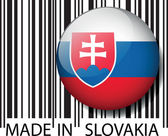 Made in slovakia barcode. Vector illustration — Stock Vector