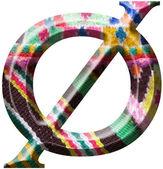 数字 0 与手工制作毛织物作 — 图库照片