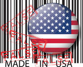 Made in USA barcode - FALSE. Vector illustration — Stock Vector