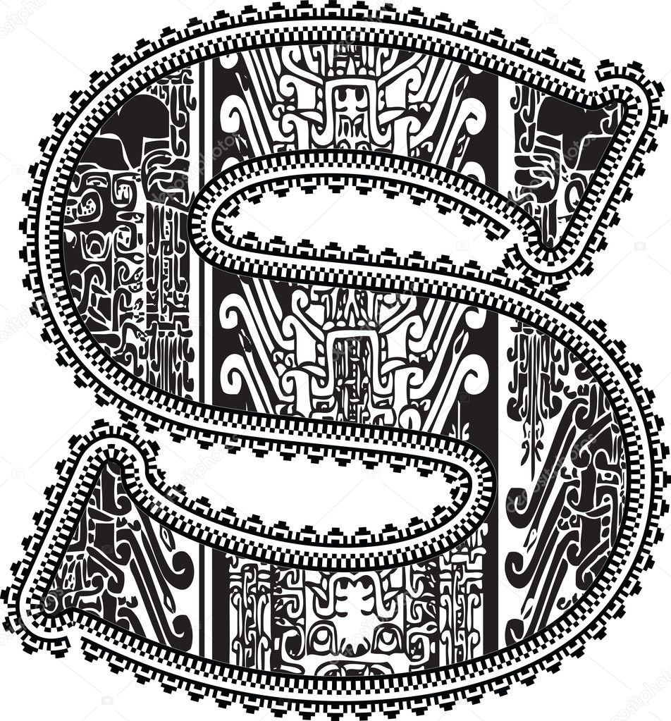 aztec coloring pages letter a - photo#23