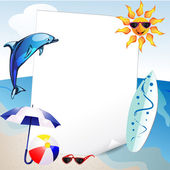 Summer and sea background — Stock Vector