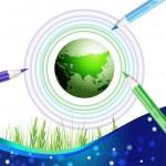 Eco earth design — Stock Vector