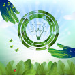 Royalty-Free Stock Vector Image: Eco bulb design