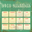 Vector calender for 2013 — Stock Vector