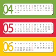 Stock Vector: Three Month calendar for year 2013.