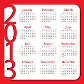 Calendar for Year 2013 — Stock Vector