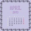 April 2013. — Vector de stock #11198095