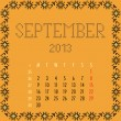 September 2013. — Vector de stock #11198131