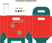 Decorative Christmas Box — Vetorial Stock