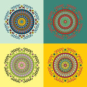Set of four ethnic motifs — Stock Vector