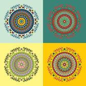 Set of four ethnic motifs — Stock Vector