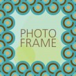 Vector design for photo frame — Stock Vector