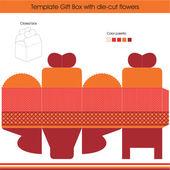 Present gift template — Stock Vector