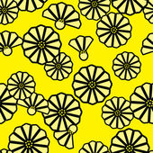 Bezešvé květinové pozadí. — Stock vektor