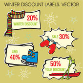 Christmas labels. — Vector de stock