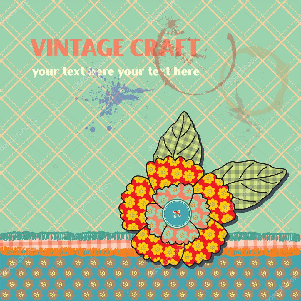Cute scrapbook elements. vector illustration — Stock Vector #11330344