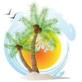 Tropischen palmen — Stockvektor