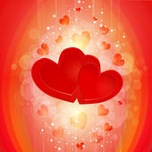 Two hearts background — Vettoriale Stock
