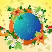 Hintergrund mit Margeriten und Lilien — Stockvektor