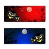 Halloween banners set — Stock Vector