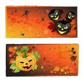 Halloween banners set — Stockvector