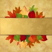 Autumn background with leaves — Stock Vector