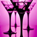 Martini on purple — Stock Photo