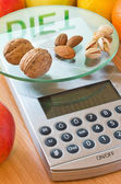 Nuts and almonds diet — Stock Photo