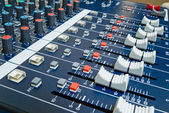 Professional audio mixer — Foto Stock